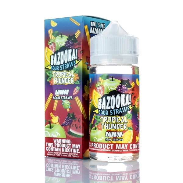 Bazooka Vape - Rainbow Sour Straws Tropical Thunder - 100ml