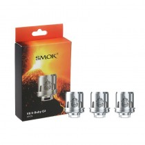 SMOK TFV8 X-Baby Coil - Q2 0.4ohm Dual Coil - Pack of 3
